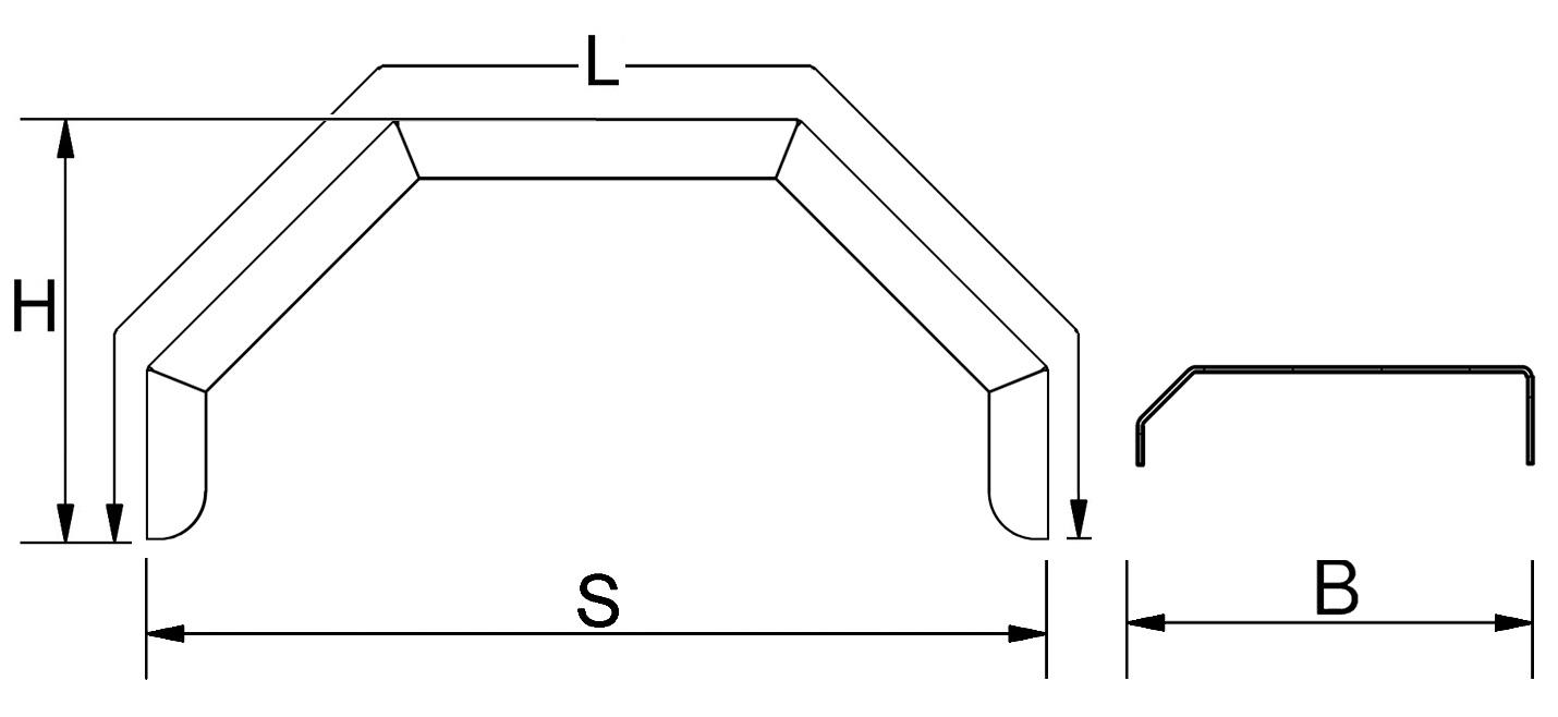 Kotflügel, einachsig, Alu-Riffel, Ausführung eckig, passend für alle gängigen Anhängertypen